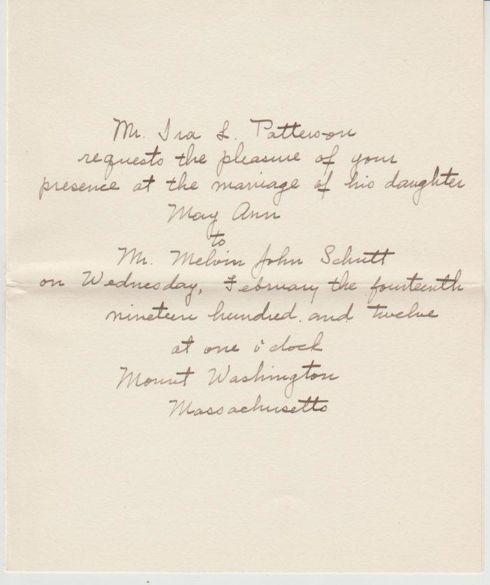 1912 Letter