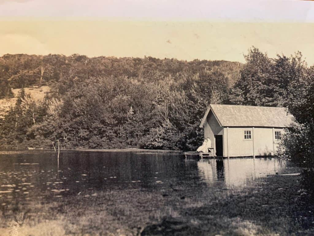 Boat House at Lee Pond