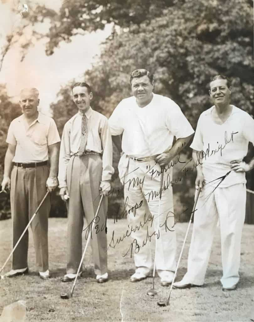 Babe Ruth, Fred Wright and Friends
