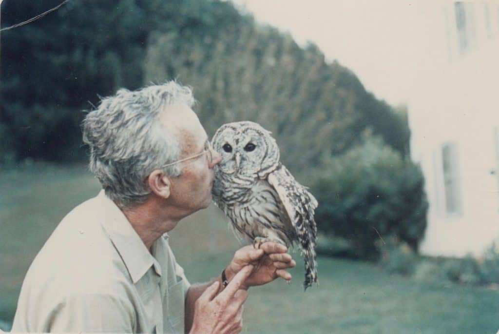 Morgan Bulkeley, III With His Pet Barred Owl