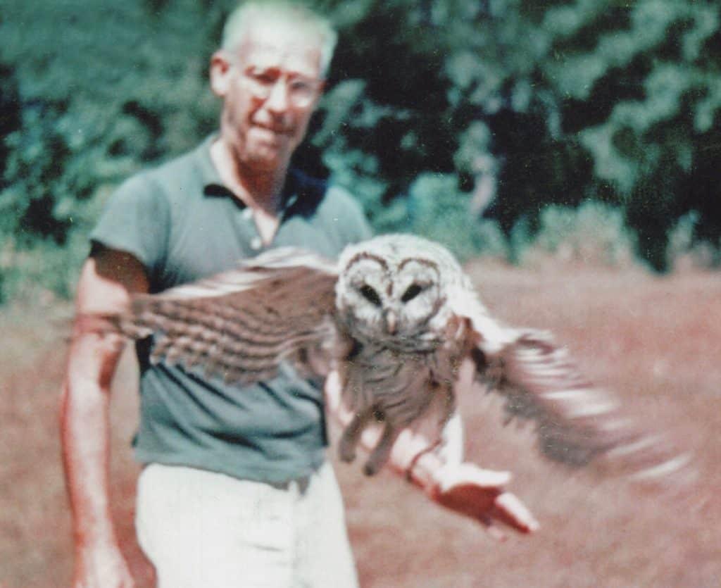Morgan Bulkeley, III With His Pet Barred Owl