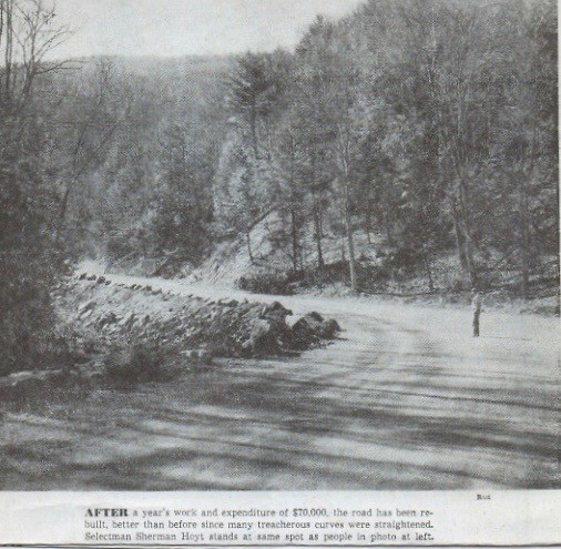 Falls Road Repaired After 1955 Flood