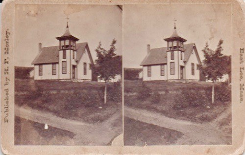 Mount Washington Church of Christ/Horse Carriage Shed on the Left