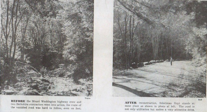 Falls Road Before and After 1955 Flood
