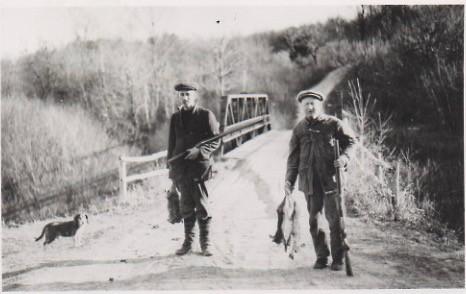 Russ Whitbeck, Beagle and Mr. Kraft at City Bridge