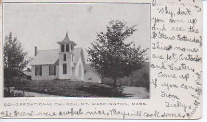 Church of Christ Postcard Sent to Mrs. Edward Schutt