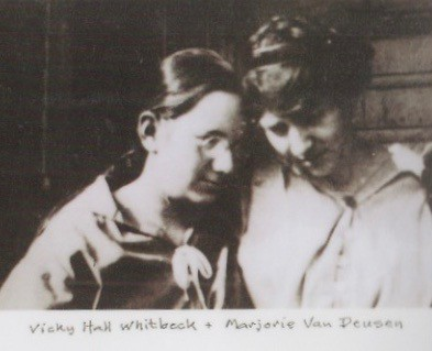 Vickey Hall Whitbeck and Marjorie Van Deusen