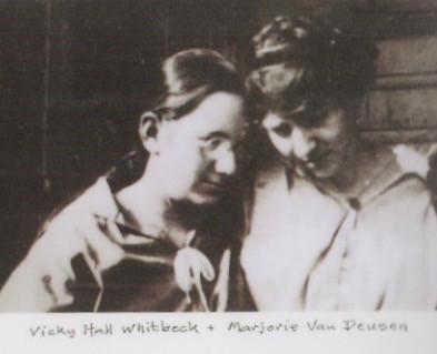 Victorine Hall Whitbeck and Marjorie Van Deusen