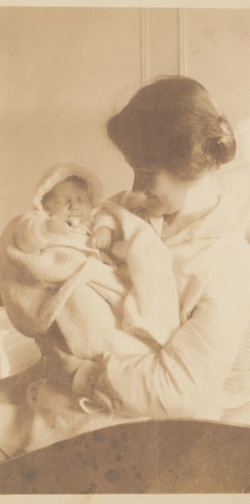Kay Spence with Baby Jean
