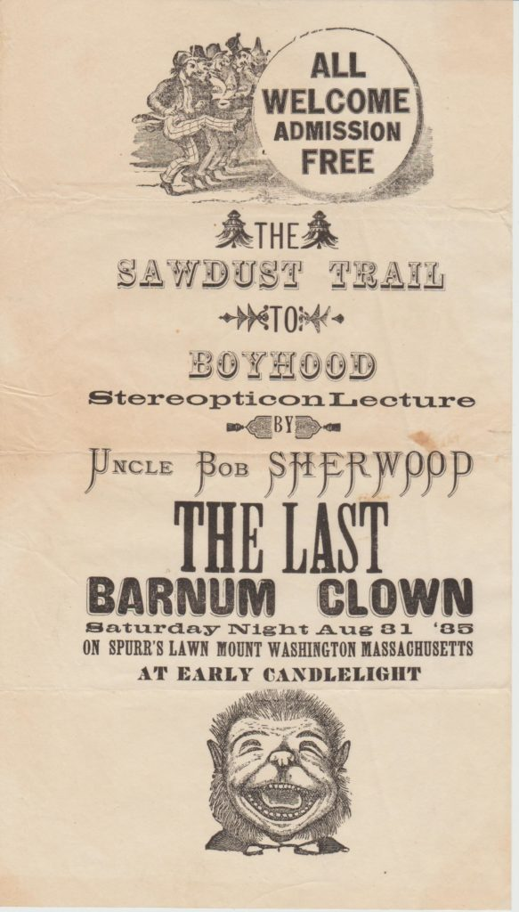 Uncle Bob Sherwood, The Last Barnum Clown