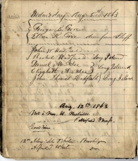 Herman Melville, Elizabeth Shaw Melville