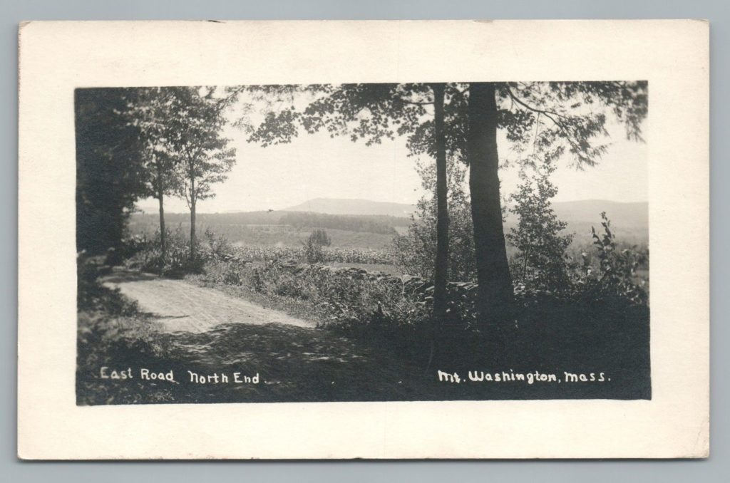 East Road, North End, Mount Washington, Mass.