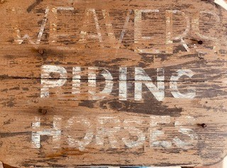 Wooden Sign from Percy Weaver's Horse Stable 1950s