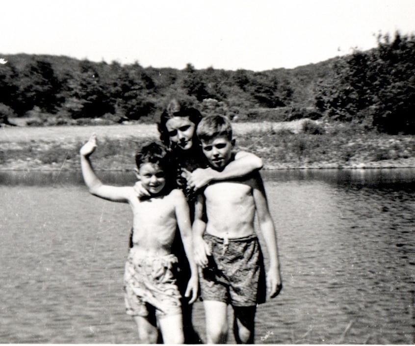 At Memorial Pond 1951