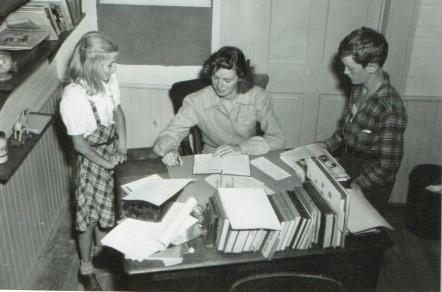 Margaret (Peg) Mahar Laragh with Students at North School 1940s