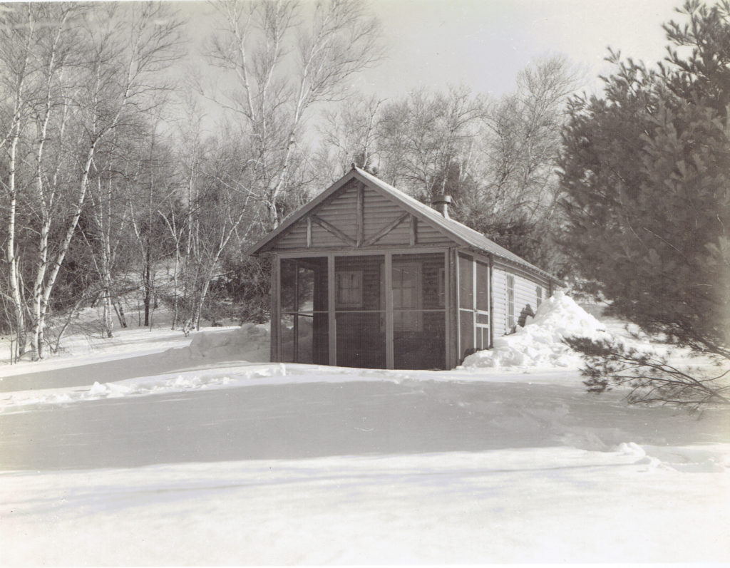 Sears Cabin in Winter at the Club Grounds