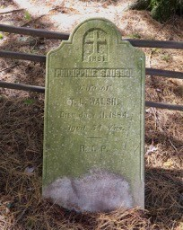 Headstone of Philippine Walsh