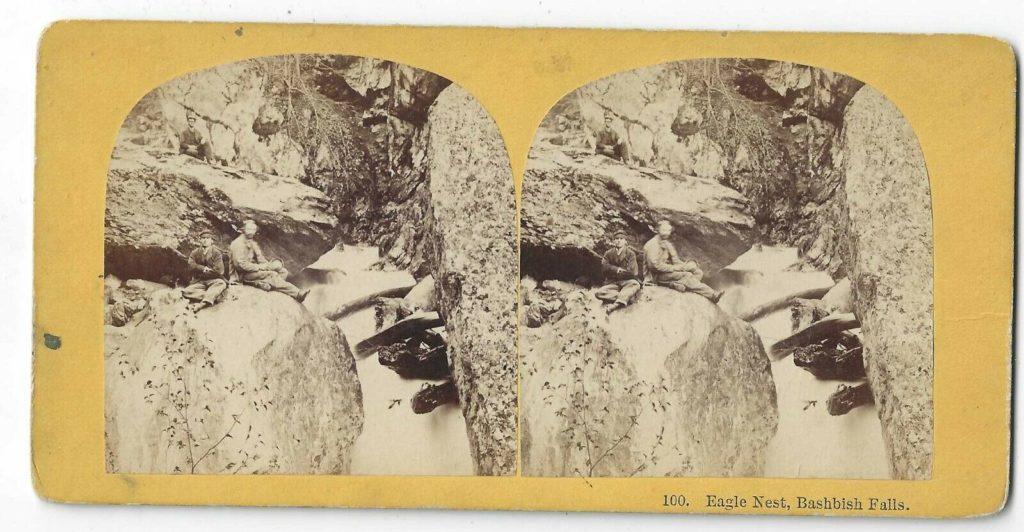 """Postcard – Bash Bish Falls """"Eagles Nest"""""""