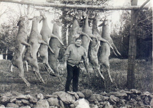 Babe Ruth During Deer Week at Road's End  1940's