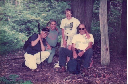Hiking with Roy Lindstrom, Jim Blout,Judy Whitbeck & Phil Garrett