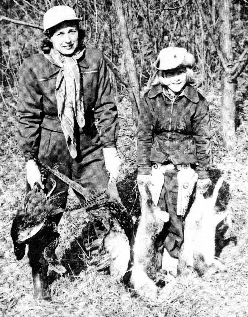 Nancy & Bette Wright with Animals Shot by Bud Wright